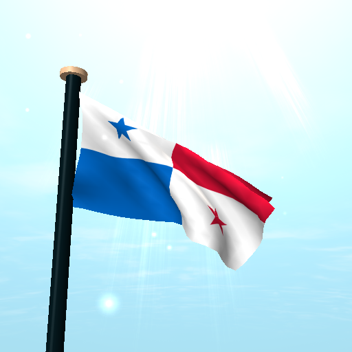 This is a android live wallpaper app which shows fluttering Panama flag on your home screen.
